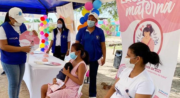 En Riohacha las mujeres conmemoraron la semana de la lactancia materna - Noticias de Colombia